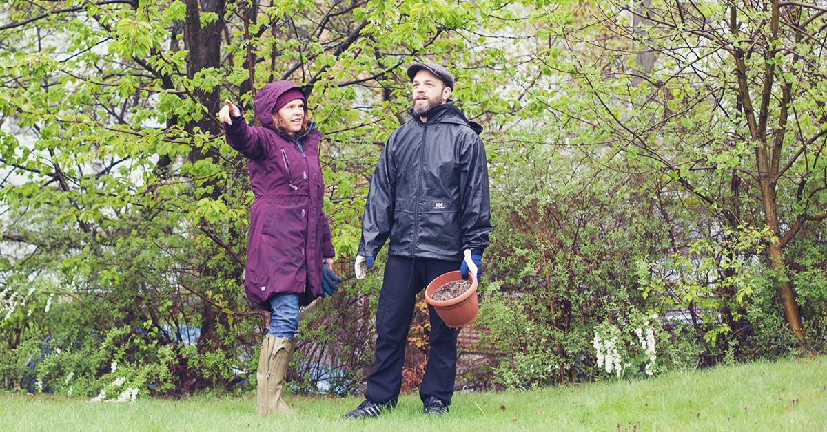 Luado-fikser Bård klar for hage stell