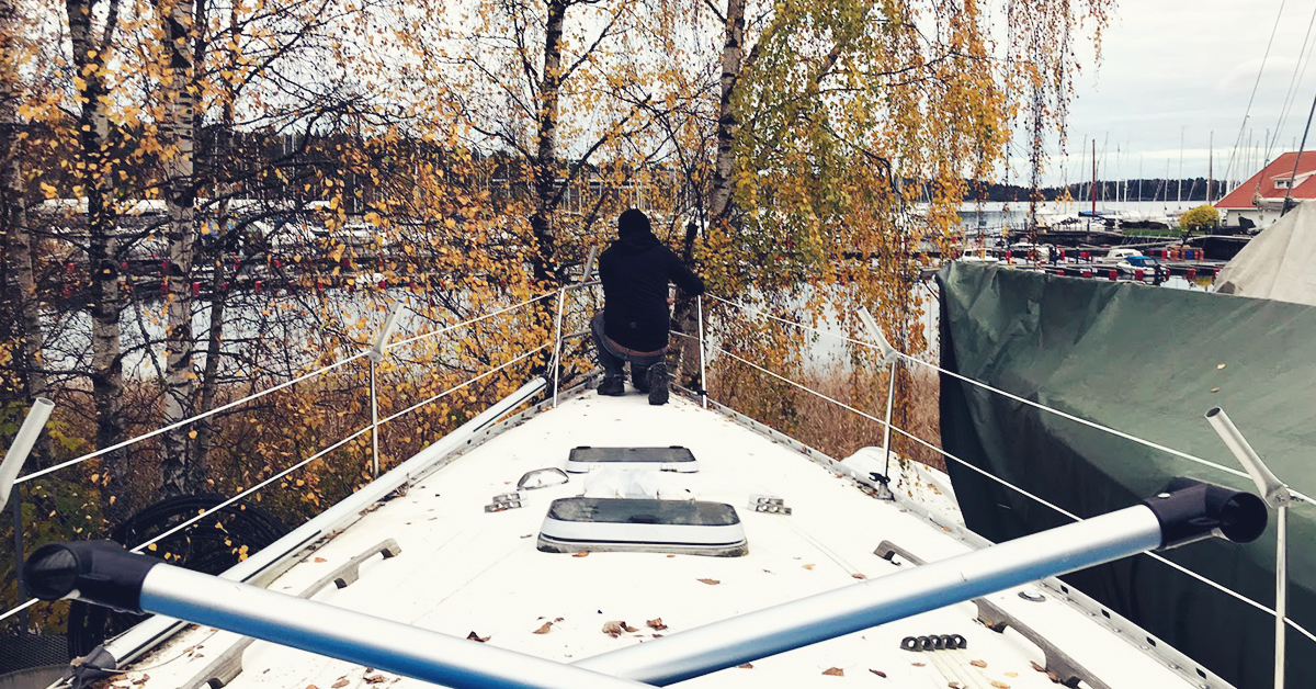 Fikk båten vinterklar med Luado